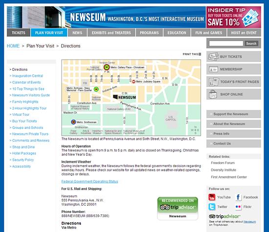 Site do Newseum