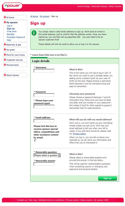 Redigir claramente as informações e simplificar o layout dos formulários facilita o preenchimento dos formulários
