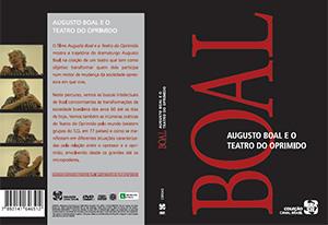 <em>Augusto Boal e o Teatro do Oprimido</em>, capa de vídeo e DVD | Mapa Filmes