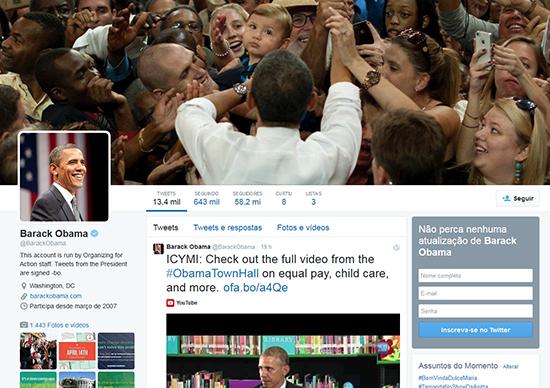 Uso de redes sociais na política